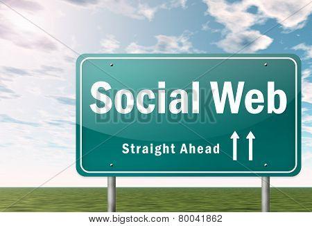 Highway Signpost Social Web