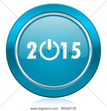 new year 2015 blue icon new years symbol