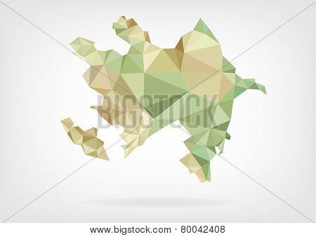 Low Poly map of Azerbaijan