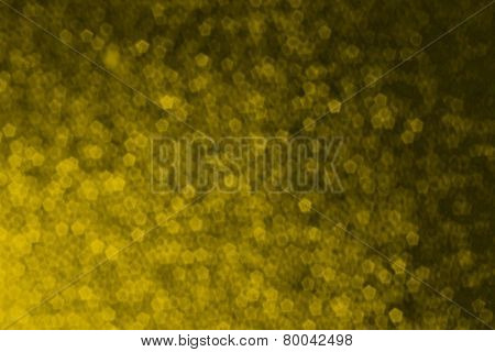 Gold Pentagon Shape Abstract Background