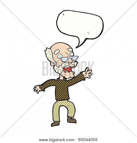 cartoon old man panicking