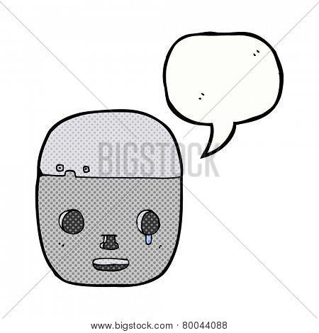cartoon robot head