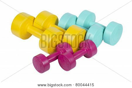 Colorful dumbbells