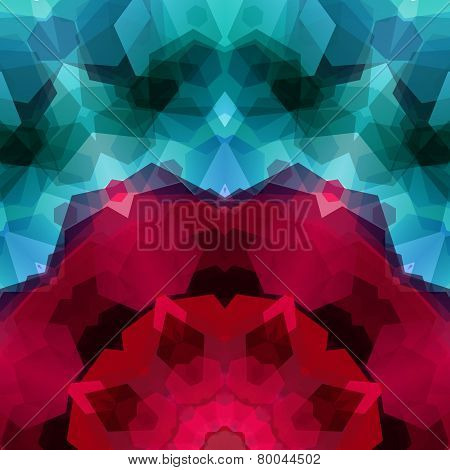 Retro pattern made of hexagonal shapes. Mosaic background gem co
