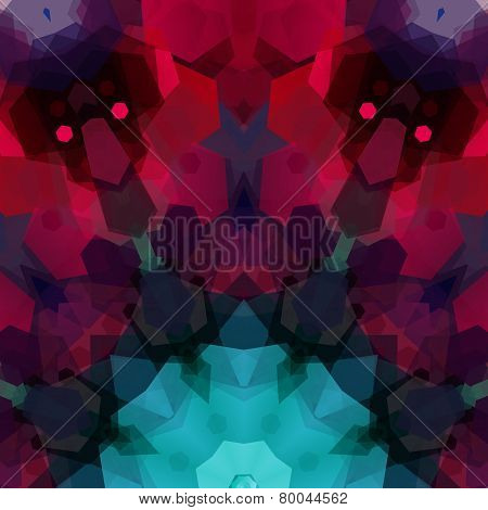 Retro pattern made of hexagonal shapes. Mosaic background gem co