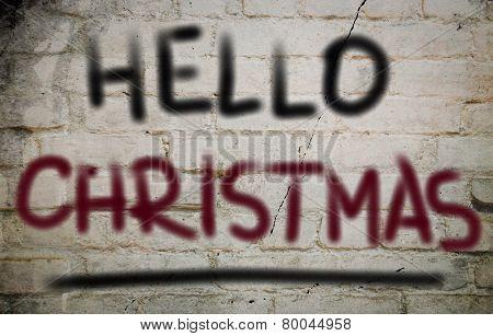 Hello Christmas Concept