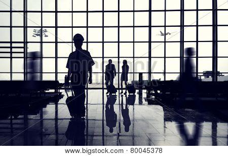 Business Travel International Airport Transportation Concept