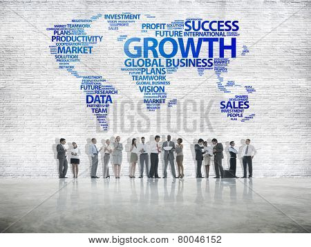 Business People Discussion Growth Success Investment Concept