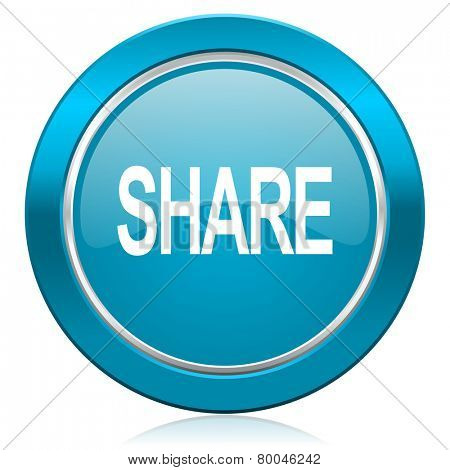 share blue icon