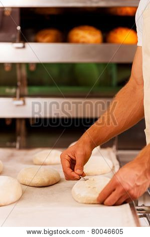 Cutting The Dough.