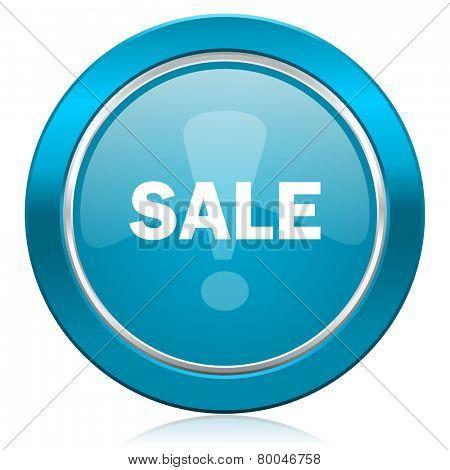 sale blue icon