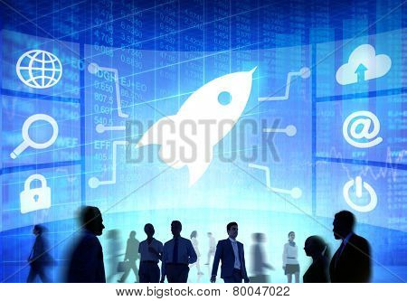Rocket Success Growth Team Teamwork Professional Concept