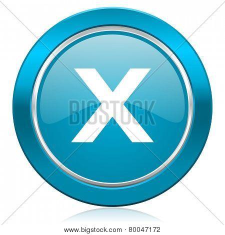 cancel blue icon