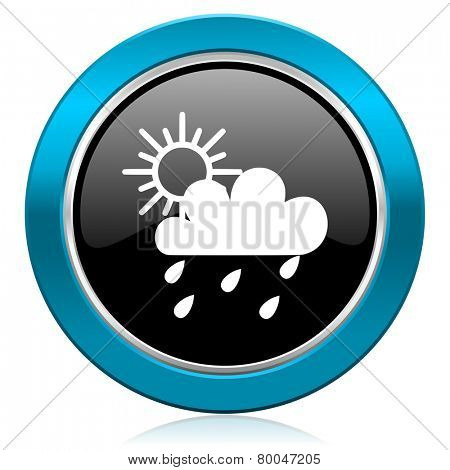 rain glossy icon waether forecast sign