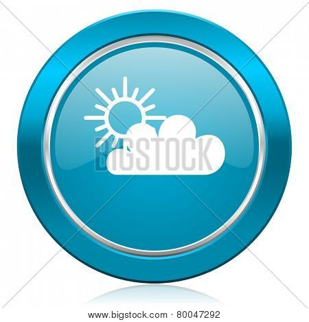 cloud blue icon waether forecast sign