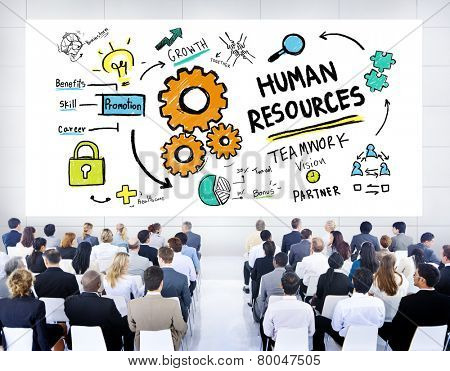 Human Resources Employment Teamwork Business Seminar Conference Concept