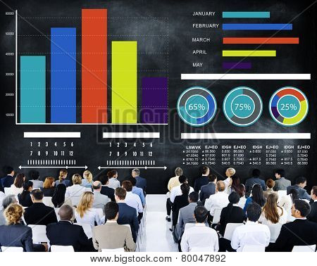 Business People Strategy Presentation Seminar Conference Concept