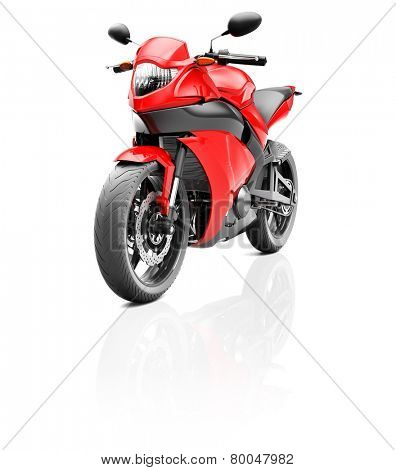 Illustration of Transportation Sport Motorbike Racing Concept