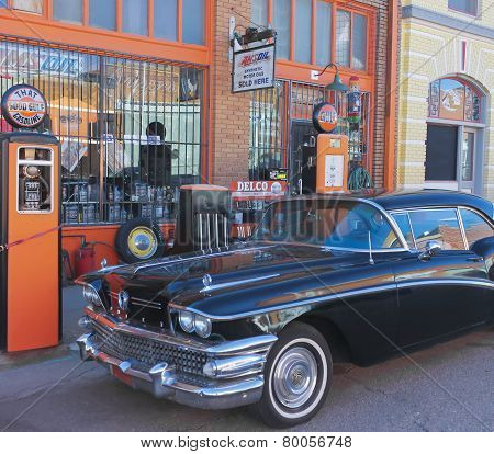 A Classic Black Buick In Lowell, Arizona