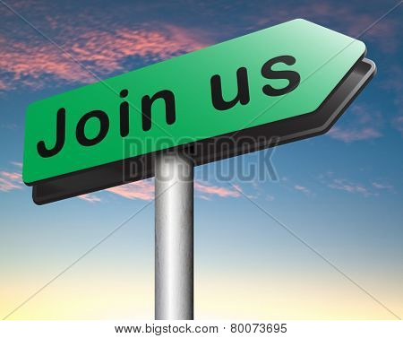 join us now register online and get a subscription membership sign in here poster