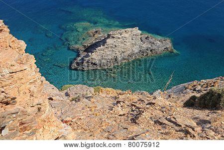 Shallow blue sea