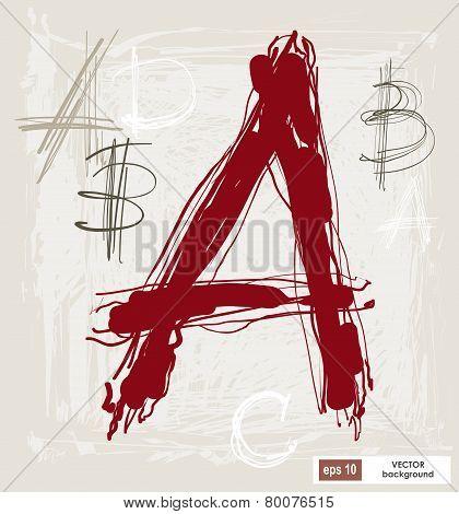 Handwritten Alphabet Letters Vector.  Abc For Your Design.