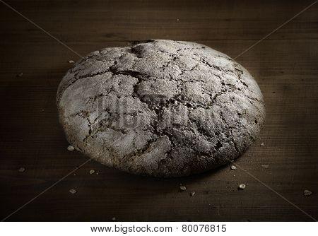 Loaf Of Rye Bread On Board