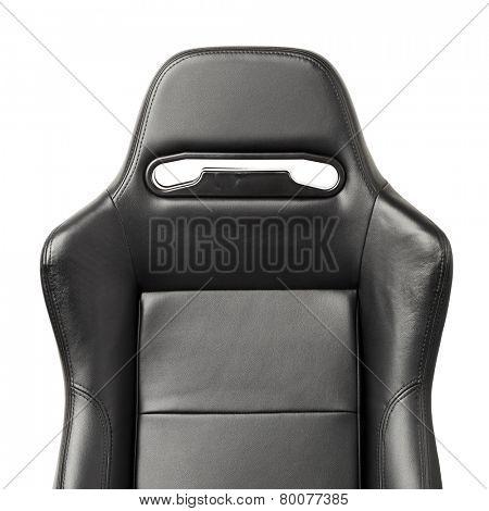 racing simulator seat, closeup view