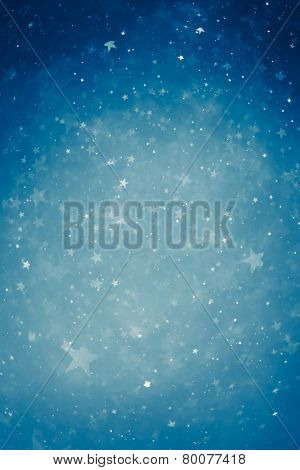 blue particle stars background