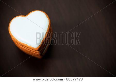 cookie heart, closeup view