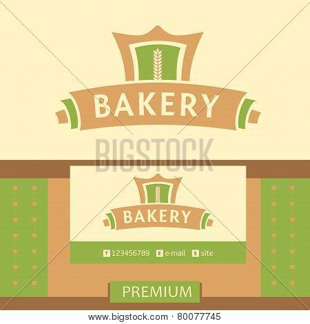 Vector logo for a bakery, macaroni factory. Vector logo for a bakery, macaroni factory.