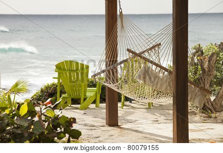 hammock with view of the ocean in the bahamas