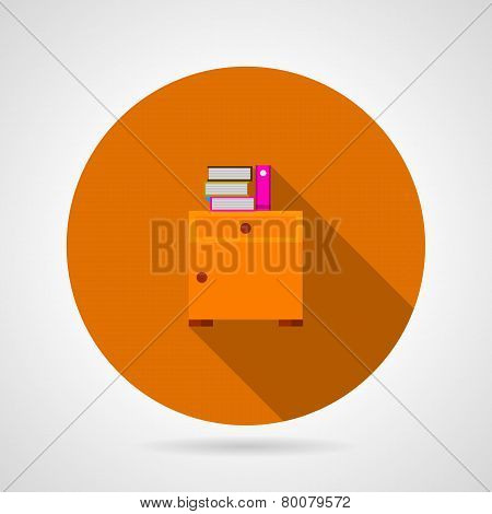 Bedside table flat vector icon