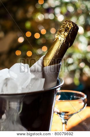 Bottle Of Chilled Champagne