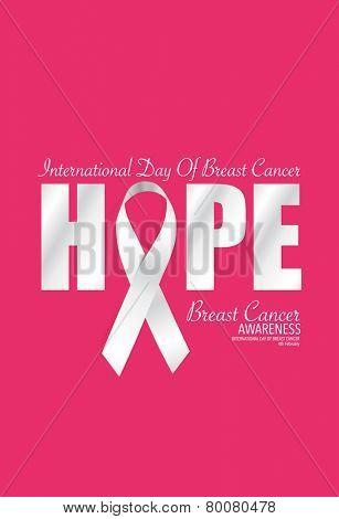 Breast Cancer Awareness cards design. Vector Illustration.