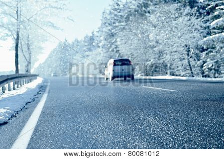 Winter Driving - Country Road