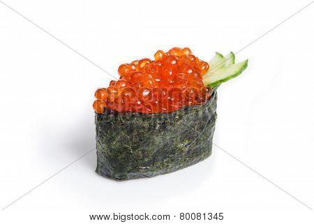 Tobiko Gunkan with salmon caviar