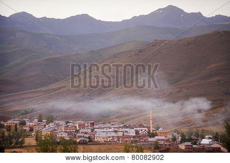 Mountain Village In Turkey