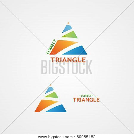 Vector logo with a creative triangle logo.