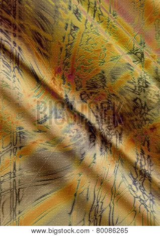 Wavy yellow background with abstract pattern