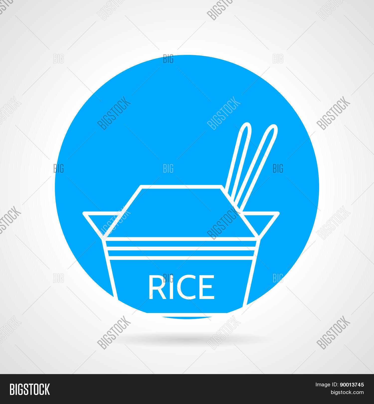 Rice pack round vector icon
