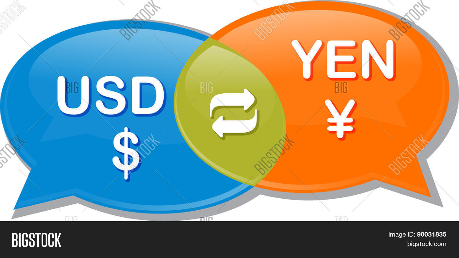 Ilration Concept Clipart Sch Bubble Dialog Conversation Negotiation Of Currency Exchange Rate Usd Yen Dollar