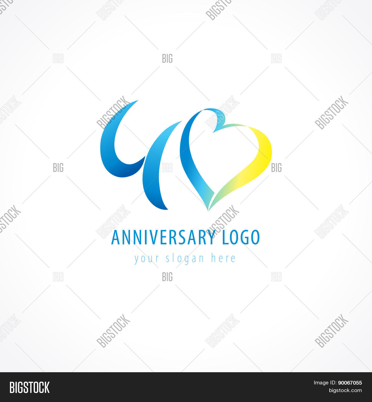Anniversary 40 Years Vector Photo Free Trial Bigstock