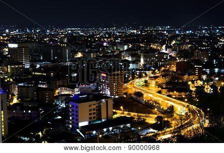 View Point Of Pattaya City At Night