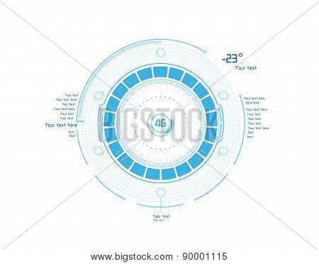 Futuristic Infographics As Head-up Display