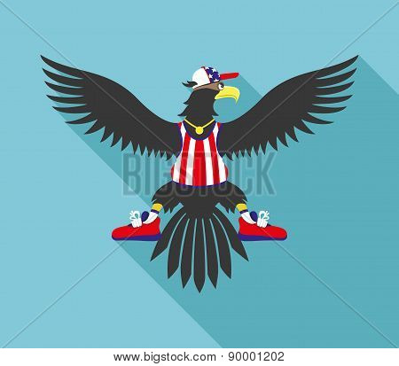Vector illustration. Eagle.