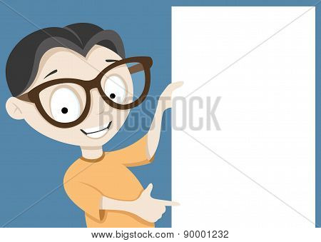 Vector illustration. Boy.