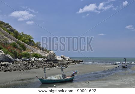Boats On The Beach, Huahin Thailand