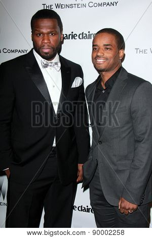 LOS ANGELES - JAN 11:  50 Cent, Larenz Tate at the The Weinstein Company / Netflix Golden Globes After Party at a Beverly Hilton Adjacent on January 11, 2015 in Beverly Hills, CA
