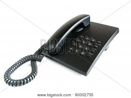 The Telephone Set On A White Background.